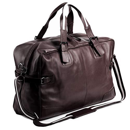 BACCINI Weekender echt Leder Roberto groß Sporttasche Reisetasche Ledertasche Herren 50 cm braun