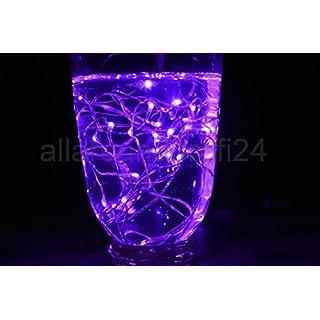 allaroundprofi24 20-40 Drahtlichterkette Micro LED Lichterkette Weihnachten Beleuchtung (Lila, 20)