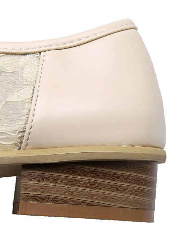 ZQ hug Scarpe Donna - Scarpe col tacco - Tempo libero / Ufficio e lavoro / Casual - Tacchi / A punta - Basso - Finta pelle -Nero / Bianco / , white-us10.5 / eu42 / uk8.5 / cn43 , white-us10.5 / eu42 / black-us8 / eu39 / uk6 / cn39