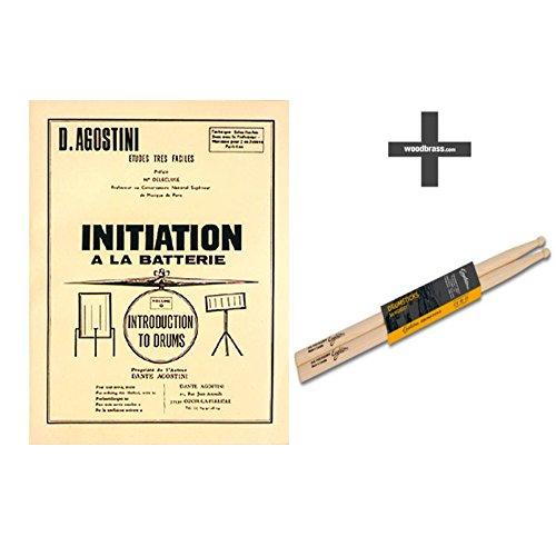 Méthodes et pédagogie AGOSTINI AGOSTINI - METHODE DE BATTERIE VOL.0 : INITIATION À LA BATTERIE + BAGUETTE 5A HICKORY Batterie