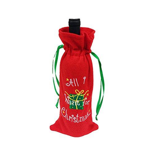 rainbabe rot Weihnachten Wein Flasche Winebottle Cover Wrap Decor Buchstabe Suit 34100Stück Wein Buchstaben