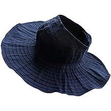 Gorro Sombrero De Sol Sombrero De Paño Visera Plegable De Playa Verano Para  Mujeres - azul 29a5c58082f