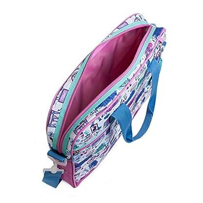 416jX7ji gL. SS416  - SKPAT - Maletín Cartera Extraescolar Infantil Niña Estampada. Capacidad para Blocs Libretas Libros y Portátil. Tamaño A4. Apertura Amplia. Cómodo Ligero y Resistente. 53606, Color Rosa