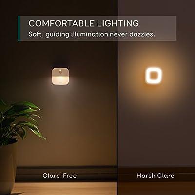 eufy Lumi 3 Pack LED Nachtlicht mit Bewegungsmelder, warmes weißes LED Lichter, Auto ON/OFF mit Lichtsensor, Bewegungssensor für Kinderzimmer, Schlafzimmer, Küche, Orientierungslicht,Schrank Lichter Energieeffizient (3 Pack) von Anker