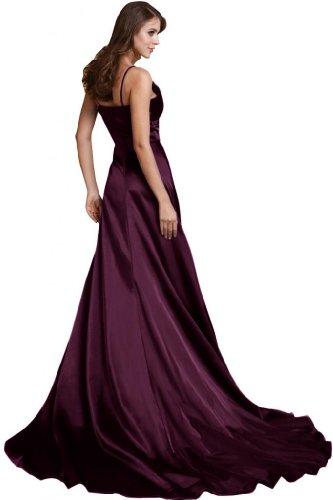 Sunvary una linea Spaghetti, spalline abito da sera lungo Celebrity Dress Grape