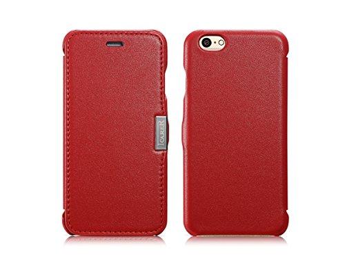 Étui de luxe série (couleur) Housse étui de protection en cuir véritable pour Apple iPhone 611,9cm blanc