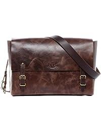 b5529655f79ae SID   VAIN Messenger Bag Leder Duncan Laptoptasche Herren 13 Zoll Laptop  Umhängetasche echte Ledertasche Herrentasche