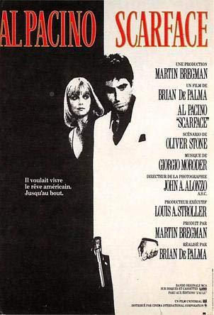 Al Pachino, Scarface Movie Poster Postcard - Scarface Movie Memorabilia