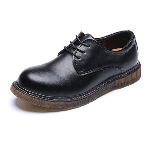 Xujw-shoes, Stivali da Uomo 2018, Stivali da Lavoro da Uomo con Rialzo, Scarpe Basse Impermeabili in Vera Pelle Estraibili 1'/ (2,5 cm) con Rialzo più Alto (Color : Nero, Dimensione : 36 EU)