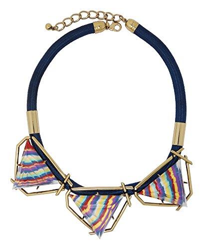 Designer Handarbeit Rainbow Streifen Jewels Halskette (Rainbow Jewel Halskette)