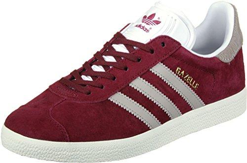 adidas Damen Gazelle Fitnessschuhe, Mehrfarbig (Buruni / Grivap / Ftwbla), 37 1/3 EU (Leder Burgund Schuhe)