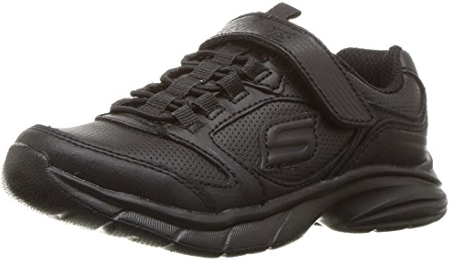 Skechers Girls' Kids Girls' Skechers Spirit Sprintz Sneaker, Black/Black, 4.5 M US Big Kid 04f644