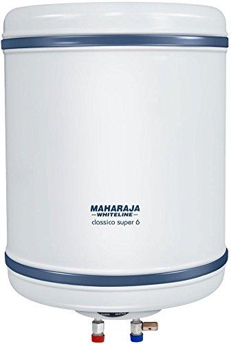Maharaja Classico Super-6 6-litres Water Heater (white/blue)