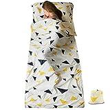SueH Design Doublure de Sac de Couchage Double 230 cm de Longueur et Légère pour Adultes dans Les Hôtels, Les Auberges, Les Motel et Les Activités de Plein air | Sac de Couchage D'été
