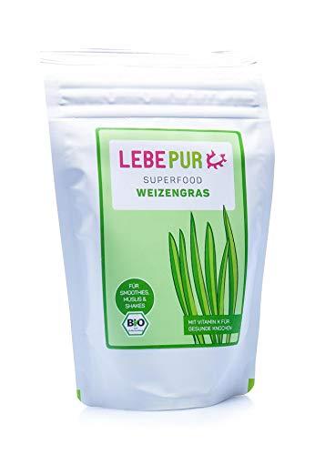 Lebepur Weizengras Pulver (bio) 125g - deutscher Vertragsanbau