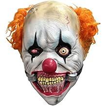 Niños tamaño Deluxe sonriente máscara de payaso asesino