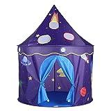 Virhuck Kinderzelt Spielhaus Tragbares und faltbares Spielzelt Raumschlosszelt, Kinderspielzelt...