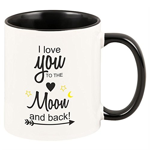 Geschenkartikel Tasse I love you to the moon and back! Kaffeetasse Becher Deko YD 3-001-1081