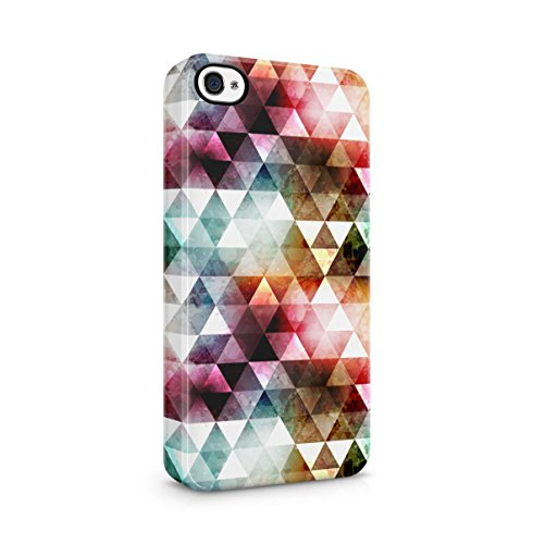 Triangles Mosaic Boho Galaxy Colorful Pattern Apple iPhone 5C Snap-On Hard Plastic Protective Shell Case Cover Custodia Rainbow Tribal
