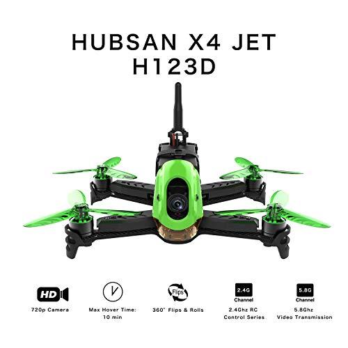 Hubsan H123D X4 Jet 5.8G FPV Brushless Racing Drone avec 720P Réglable...