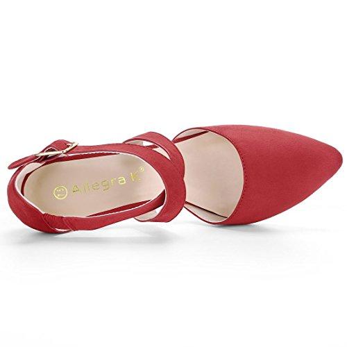 Allegra K - Zapatos De Tacón Rojo De Mujer