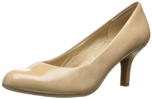 Easy Street Women's Passion Dress Pump,Taupe Crinkle Patent,6 WW US Taupe Patent Schuhe