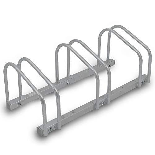BITUXX® Fahrradständer Aufstellständer Radständer Fahrrad Bike Ständer Metall Platzsparend (Für 3 Fahrräder)