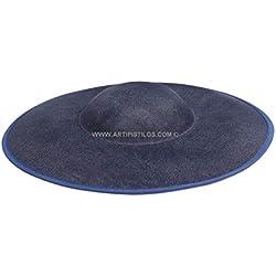 Artipistilos Base Para Tocado Verit - Azul Marino - Pamelas De Fibras Naturales