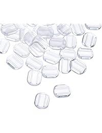 50 Piezas Almohadillas de Pendiente Cojín de Pendiente de Silicona para Clip de Pendiente, Transparente