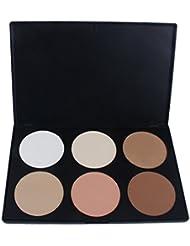 Landons Pro 6 Color neutro cálido paleta de sombra de ojos Sombra de ojos maquillaje cosmeticos