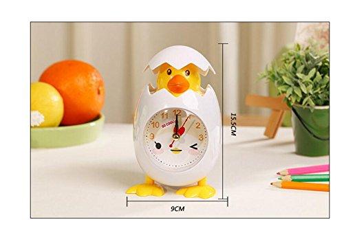 Warmman Perfecto Regalo Decoración Despertador de la Novedad de la Historieta Despertador de la Cáscara del Huevo de la Gallina (Blanco)