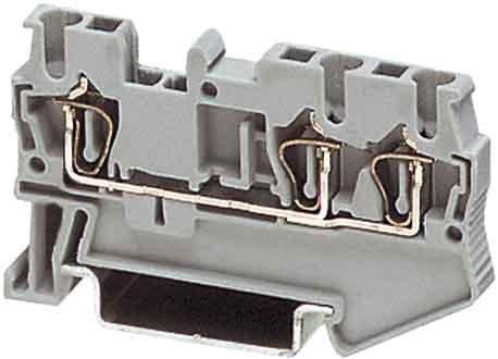 Phoenix 3031241 2,5 ST Twin 3P Grey - Terminal Blocks (5.2 mm, 60.5 mm), grau Phoenix Contact Terminal Block