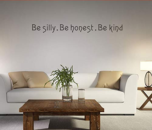 Rvqpytz Proverbs Wall Stickers Plane Wall Decoration For Home Decor Explosive Models New Personality Be Silly English Wall Stickers