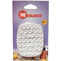 Metaltex 297015 Lot de 2 Porte-Savons à Ventouse Plastique Blanc 28 x 18 x 18 cm