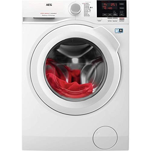 AEG L6FBG141R Freestanding Washing Machine with ProSense Technology, 10Kg Load, 1400 rpm Spin, White