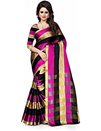 Silverstar Women's Poly Cotton Saree With Blouse Piece (Sss1192Multiz1_Multi-Coloured)