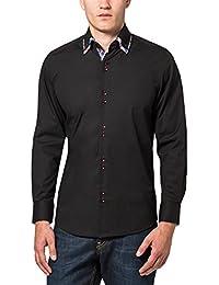 James Tyler Herren Freizeithemd mit Design Details, Slim Fit, bügelleicht