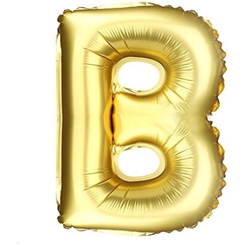 Modelado carta Los globos de papel de aluminio Decoración para fiestas Globos Dorado (16 pulgadas)★A a Z★