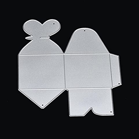 Indexp Creative DIY Metal Handmade Craft Cutting Dies Scrapbooking Embossing Album Refills Paper Card Stencil for Kitchen Dining Bar (12CM/ Candy Boxes)