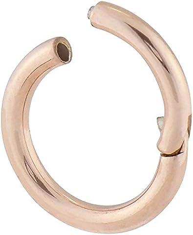 PIERCINGLINE® Chirurgenstahl Segmentring Clicker roségoldfarben 1,6 x 9 mm