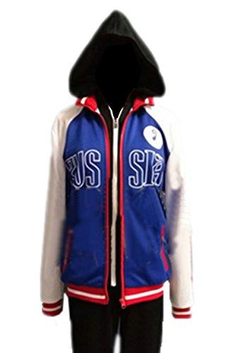 ValuePack Herren Mit Kapuze Sweatshirt Cosplay Kostüm Hoodie Gedruckt Zipper Jacke Sportbekleidung Mantel Kleidung (Halloween Ice On)