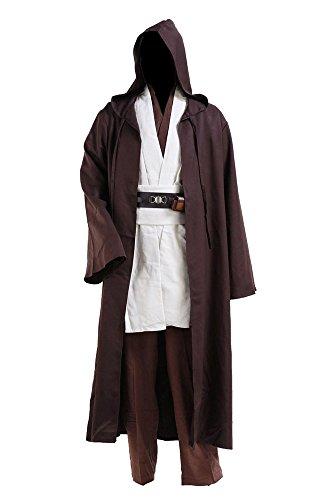 Star Wars Yoda Jedi Obi Wan Kenobi Cospaly Kostüm Tunika Herren Mantel Weiß - Fett Kostüm Damen