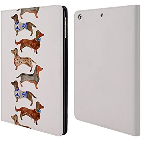 Ufficiale Cat Coquillette Bassotti Animali Cover a portafoglio in pelle per Apple iPad Air