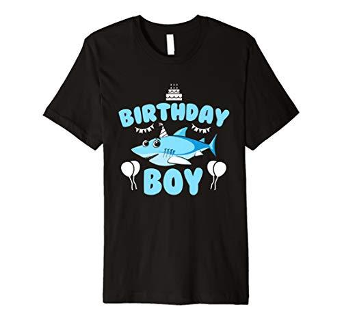Shark Geburtstag Shirt Boy Funny Geschenke Party Kuchen T-Shirt