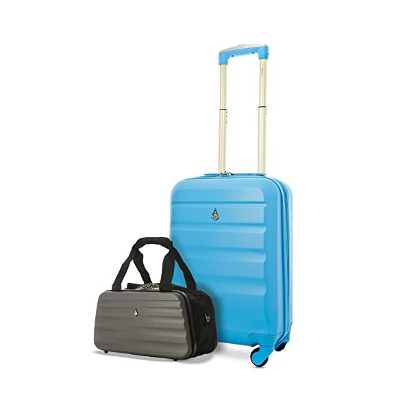 94c37b94c76df Aerolite 21″ ABS Hard Shell 4 Wheel Hand Cabin Luggage Suitcase + Ryanair  Maximum Allowance