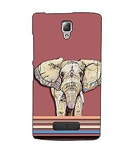 Fuson Designer Back Case Cover for Lenovo A2010 (Designer elephant theme)