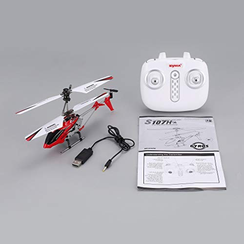 leoboone Original Syma S107H Gyro Metal 2.4G Radio 3.5H Mini Helicopter RC Remote Control Altitude Hold Drone for Toys Gift Present RTF - Helicopter Syma Rot