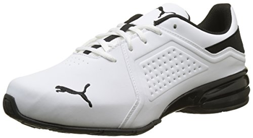 Puma Herren Viz Runner Cross-Trainer, Weiß (Puma White-Puma Black/01), 42.5 EU