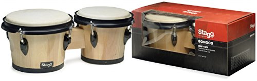 STAGG BW-100-N 7 5 & 6 5 TRADITIONAL WOOD BONGOS - NATURAL