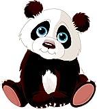 8 x 7 cm -. Kontur geschnitten - Autoaufkleber Panda Pandabär Aufkleber Sticker fürs Auto Motorrad Kinder Handy Laptop